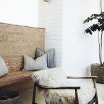 foto Pinterest houten bankje